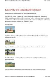 Kulturelle und landschaftliche Reize, Schwäbische ... - Brenzregion