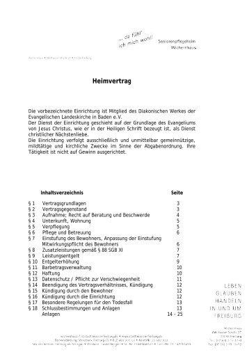 Heimvertrag - Wichernhaus