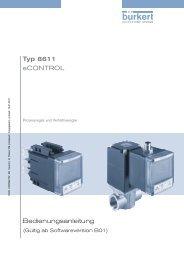 Bedienungsanleitung Typ 8611 eCONTROL - Bürkert Fluid Control ...