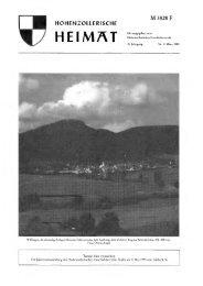 Ausgabe 1995 - Hohenzollerischer Geschichtsverein