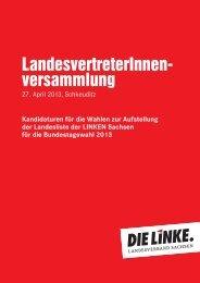 Kandidaturen der LandesvertreterInnenversammlung - DIE LINKE ...