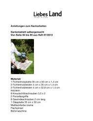 Anleitungen zum Nacharbeiten Gartentablett ... - Liebes Land
