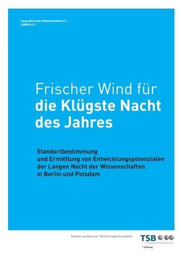 Frischer Wind für die Klügste Nacht des Jahres - Lange Nacht der ...