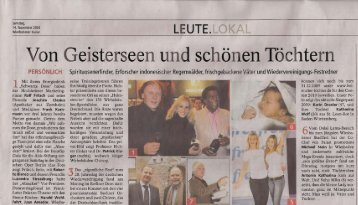 Urzeit am Geistersee - perentie-productions.de: Startseite