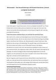 Wertewandel – Eine Herausforderung an die Enquete-Kommission ...