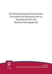 Die Rechtsprechung des Europäischen Gerichtshofs für ... - IIDH