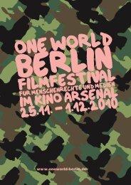 Broschüre 1 - One World Berlin 2012