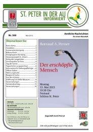 Infoblatt Nr. 300 Mai 2013 - in St. Peter in der Au