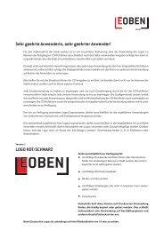 Richtlinien zur LOGO Verwendung - Leoben