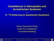 13. 14 C-Datierung (in aquatischen Systemen) - Institut für ...