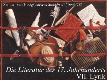 Die Literatur des 17. Jahrhunderts - Literaturwissenschaft-online