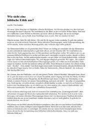 Wie sieht eine biblische Ethik aus? - Verband deutscher ...