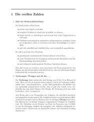 Analysis 1, Kapitel 1
