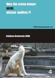 Was Sie schon immer wissen wollten ?! nicht - PETA Deutschland e.V.