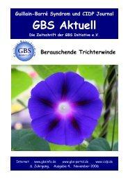 GBS Aktuell - GBS Initiative e.V.