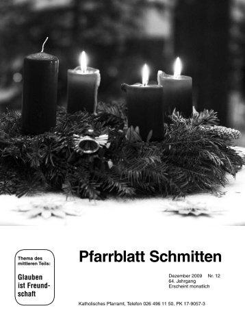 Pfarrblatt Nr. 12 - Pfarrei Schmitten