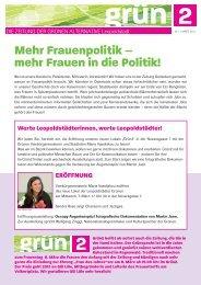 Frauen in die Politik! - Die Grünen Leopoldstadt