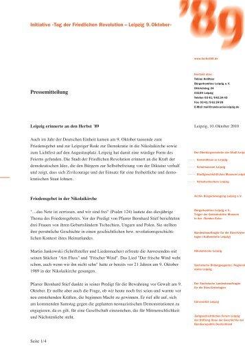 Initiative »Tag der Friedlichen Revolution – Leipzig 9.Oktober ...