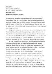EX LIBRIS Lee Rourke: Der Kanal dt. von Roberta ... - mairisch Verlag