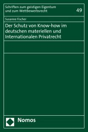 Der Schutz von Know-how im deutschen materiellen und ... - Nomos