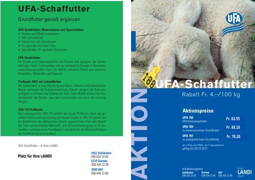 UFA-Schaffutter - LANDI Oberseetal