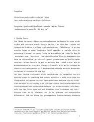 1 Joseph Jurt Globalisierung und sprachlich- kulturelle Vielfalt (unter ...