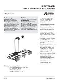 HECKTRÄGER THULE EuroClassic 913, 13-polig - Webkat