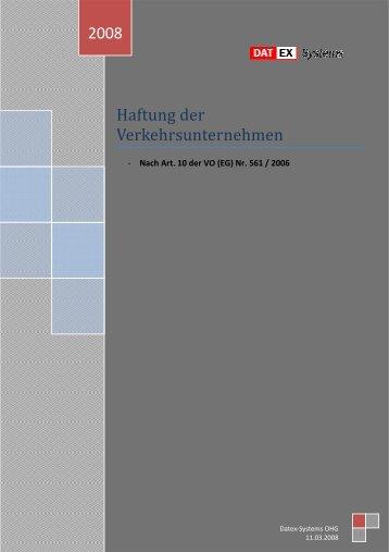 Arbeitspapier Haftung von Verkehrsunternehmen - DATEX-Systems ...