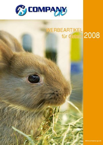 WERBEARTIKEL für Ostern 2008 - COMPANYgo
