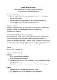 """Projekt """"Gewaltprävention"""" Freie Dienstverträge ... - Schulpsychologie"""
