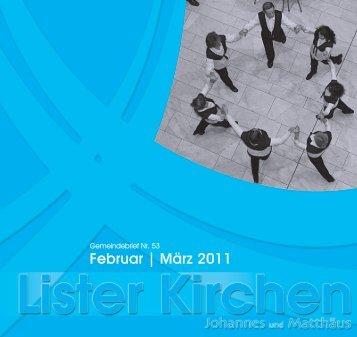 Februar | März 2011 - Luth. Lister Johannes- und Matthäus ...