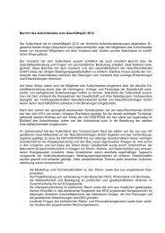 Bericht des Aufsichtsrates zum Geschäftsjahr 2012 - Naturstrom