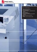 The sturdy technology of the Rexel 5500 series is designed ... - Page 2