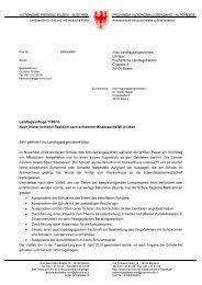 Text der Antwort - Südtiroler Landtag