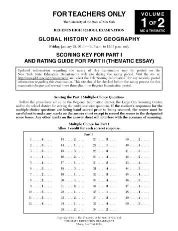 thematic essay rubric ny regents