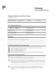 Antrag auf Abschluss eines Werkvertrages - Folkwang Universität ...