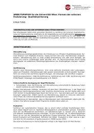 ARBEITSPAPIER für die Universität Wien: Formen - Besondere ...