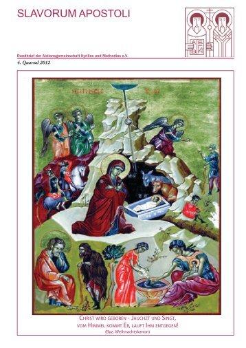 4. Quartal 2012 - Aktionsgemeinschaft Kyrillos und Methodios e.V.