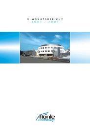 9-Monatsbericht 2003/2004 - Dr. Hönle AG