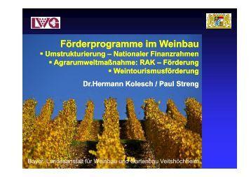 Förderprogramme - Bayerische Landesanstalt für Weinbau und ...