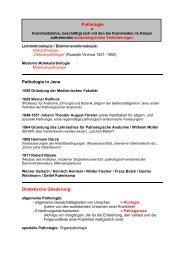 Pathologie Pathologie in Jena Didaktische Gliederung: - Institut für ...