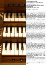 Konzertsaalorgel - Hochschule für katholische Kirchenmusik ...