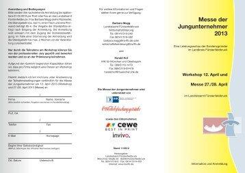 Messe der Jungunternehmer 2013 - Europäische Metropolregion ...