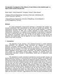 Tomographic investigation of the influence of wall effects on the ...
