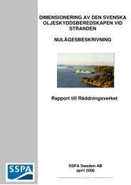 Dimensionering av den svenska oljeskyddsberedskapen vid stranden