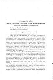 naturwissenschaftlichen Section des Siebenbürger Museum-Vereines