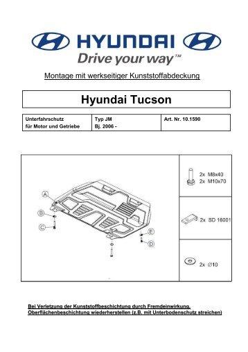 Hyundai Tucson - Unterfahrschutz