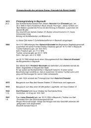 Firmenchronik der jetzigen Firma Einsiedel & Bernt GmbH