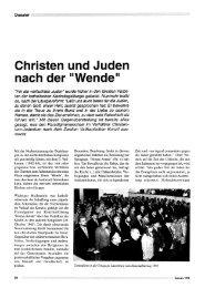 Christen und Juden - Forum – für Politik, Gesellschaft und Kultur ...