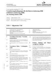 T 72.8 VB Reiseversicherung 2008 - Vermittlerportal